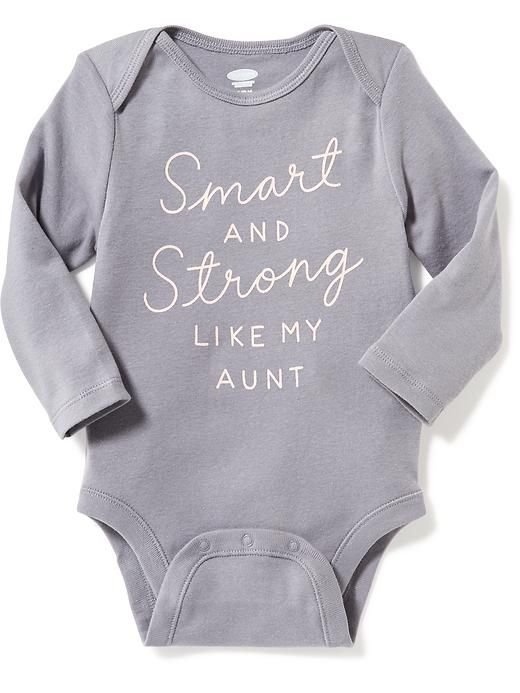 Smart and strong like my aunt onesie