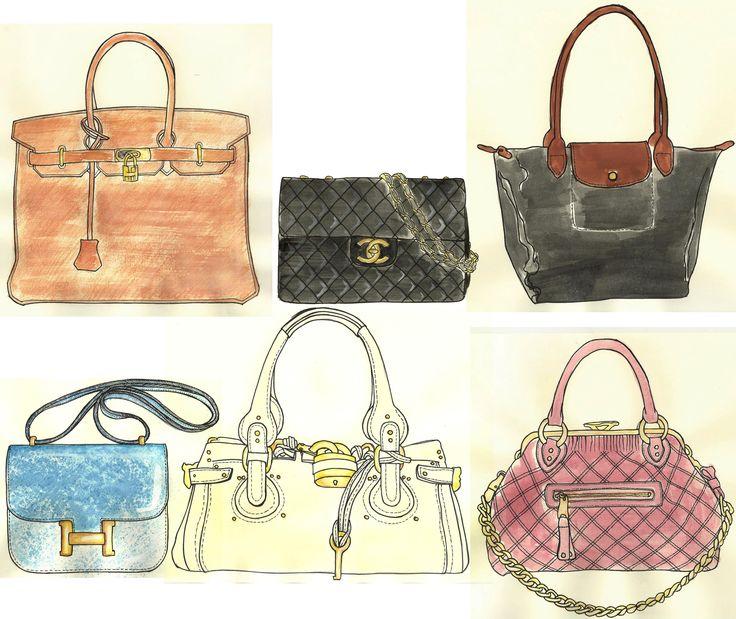 147 best images about sketch handbags on pinterest. Black Bedroom Furniture Sets. Home Design Ideas