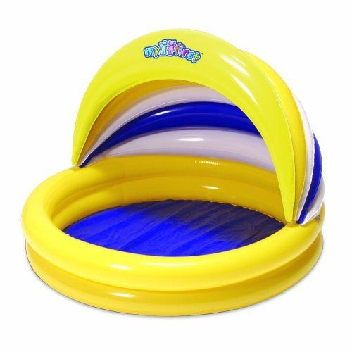 Sun Smart Baby Hideaway Pool by Aqua Leisure. $25.00. Easy to inflate and deflate.. Patch kit included.. UV resistant.. Portable size.. Removable top.. From the Manufacturer                Sun Smart Baby Hideaway Pool: There is nothing quite like your first pool! Easy to collapse and store, this is the perfect way to enjoy the summer with your toddler.                                    Product Description                The Sunsmart Baby Hideaway Pool will protect your ba...