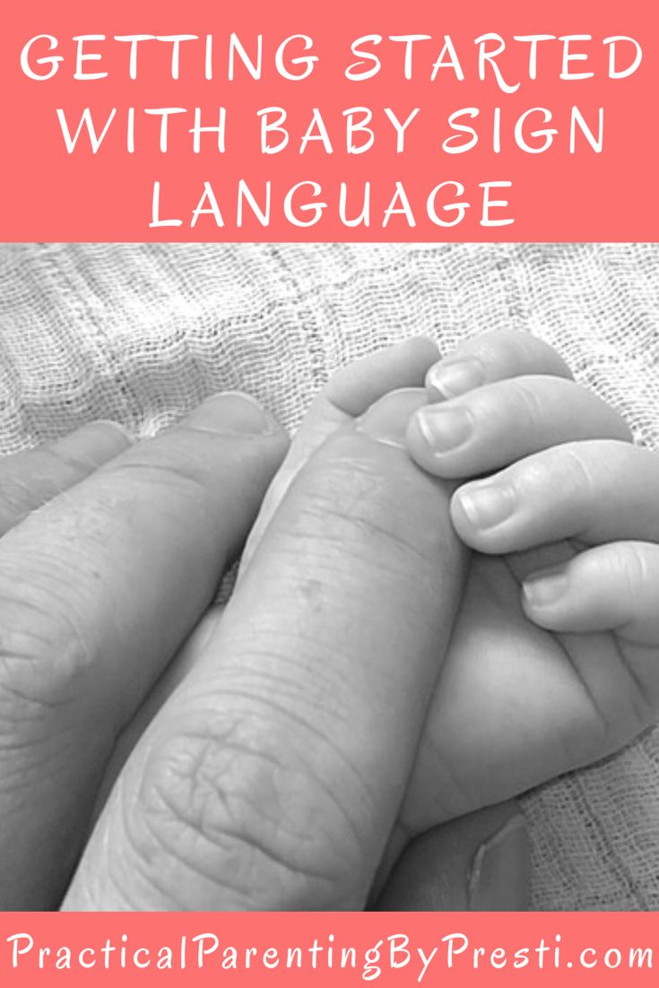 Getting started with baby sign language.