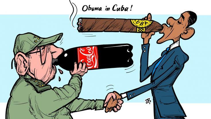 10 caricaturas de todo el mundo reacciona a la visita del Presidente Obama Cuba | Public Radio International