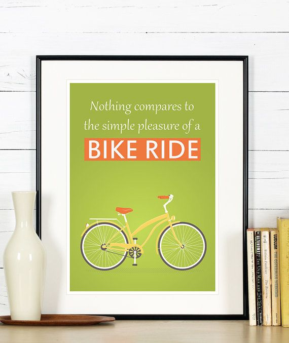 Retro print  bike bicycle poster  nothing compares by EmuDesigns