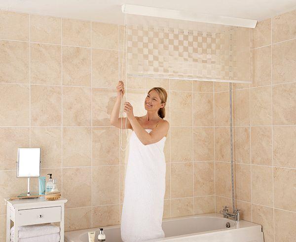 Рулонные занавески для душа и ванны