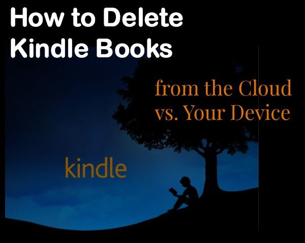 how to delete books from your kindle