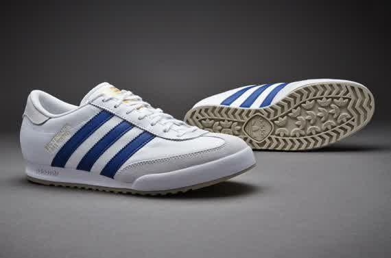 Sepatu Sneakers Adidas Originals Beckenbauer White Royal Gold