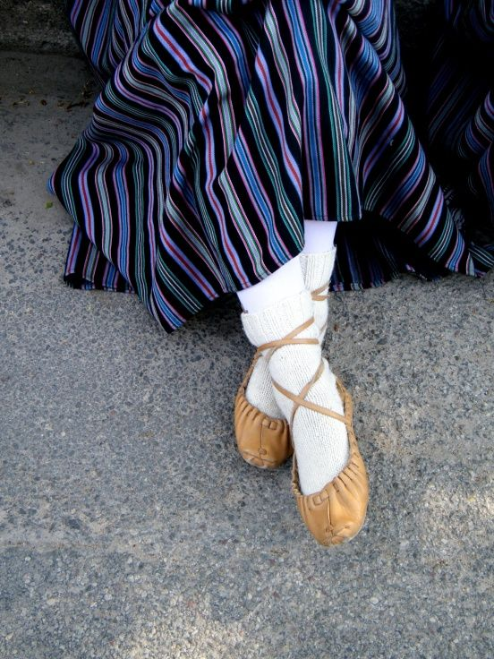 Pastalas. Latvian traditional leather shoes.