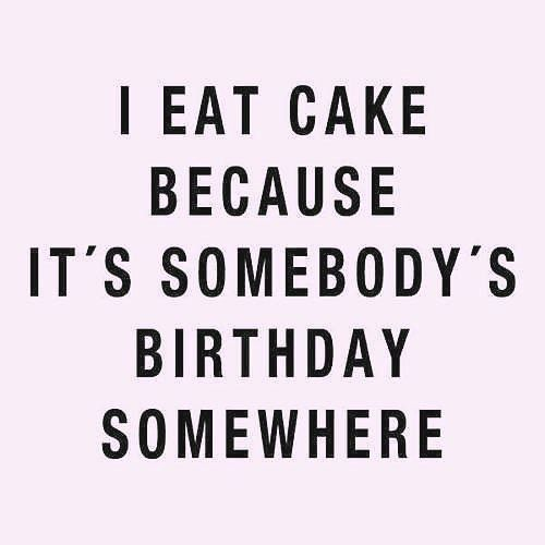So true....it's a very merry un birthday to me..to me.