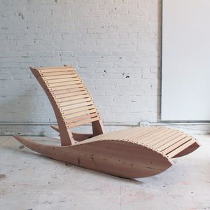 This chair is a modern fusion of an Adirondack chair and a rocking chair.  It's a bit of a low rider, which makes it a little tough to get in, but once you do, it's so comfortable that you won't want to get out.