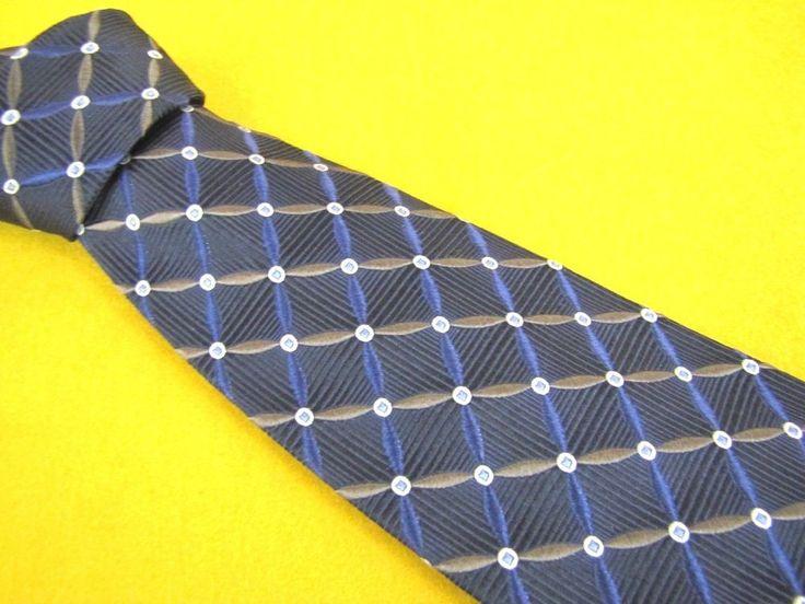 MARK PENDLETON for NORDSTROM Tie Dark Navy Blue bronze Striped Woven Necktie #MarkPendleton #Tie