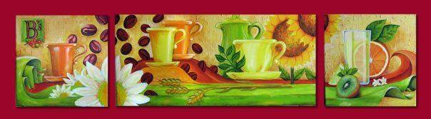 Tríptico restaurante Barry´s Acrílico sobre tela 200 x 50 cms 2009