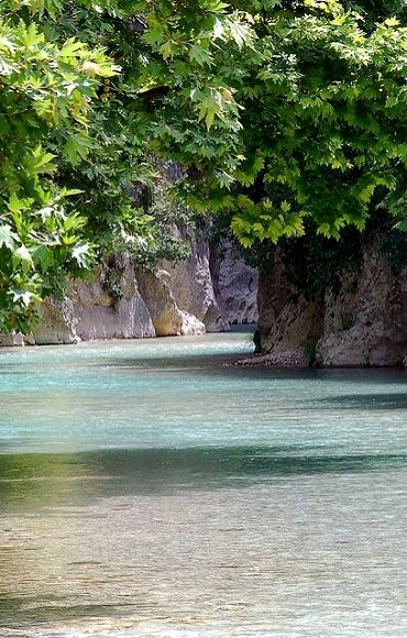 Acheron River, Exiting Gorge, Gliki, Thesprotia (Epirus), Greece
