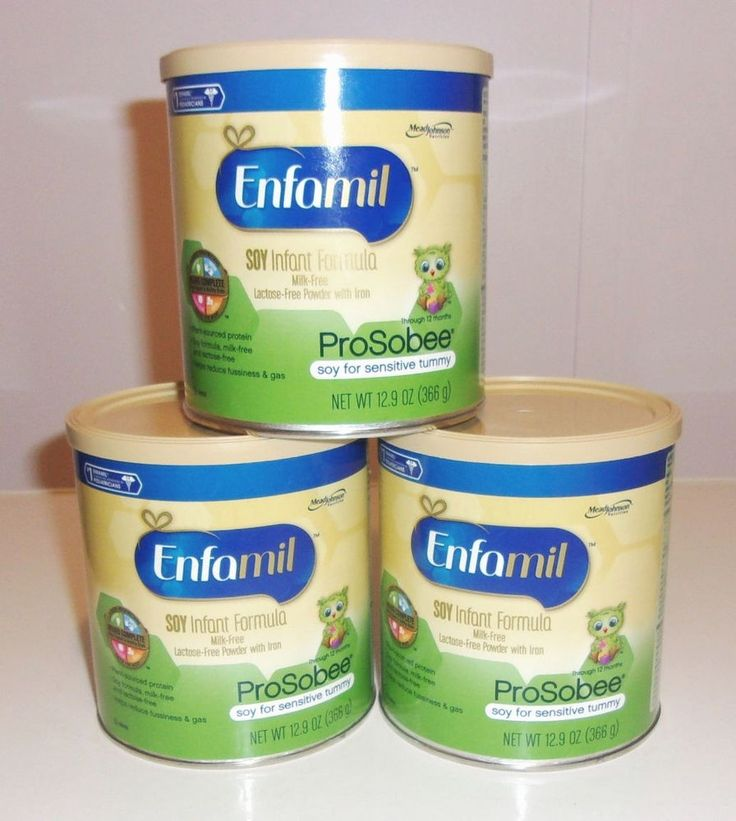 Lot of 3 New Enfamil ProSobee Soy Infant Formula 12.9oz  Exp 3/2018 Lactose Free #Enfamil