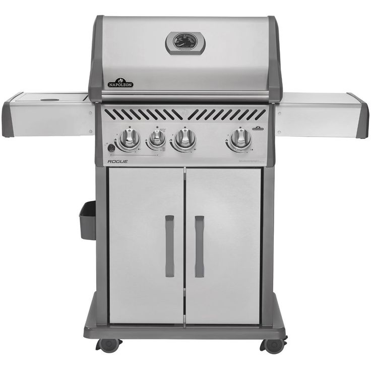 Napoleon Rogue 425 Natural Gas BBQ Grill With Infrared Side Burner On Cart available at BBQ Guys. With affordable options and high...