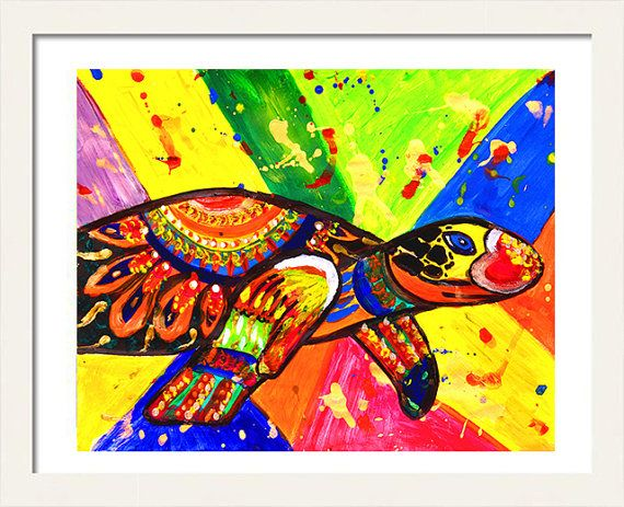 #TurtlePainting #PopArt #SeaTurtleArt #Animal #NurseryPrints #PrintableArt #KidsRoomDecor #InstantDownload #Print by #JuliaApostolova