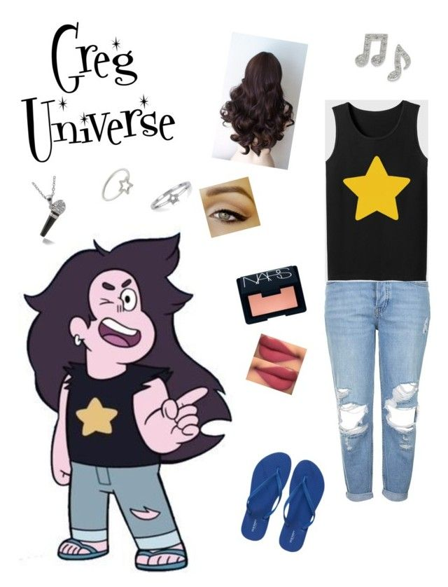 """""""Greg universe from Steven universe"""" by zamantha-palazuelos on Polyvore featuring Topshop, Old Navy, NARS Cosmetics, Aurélie Bidermann and Adina Reyter"""