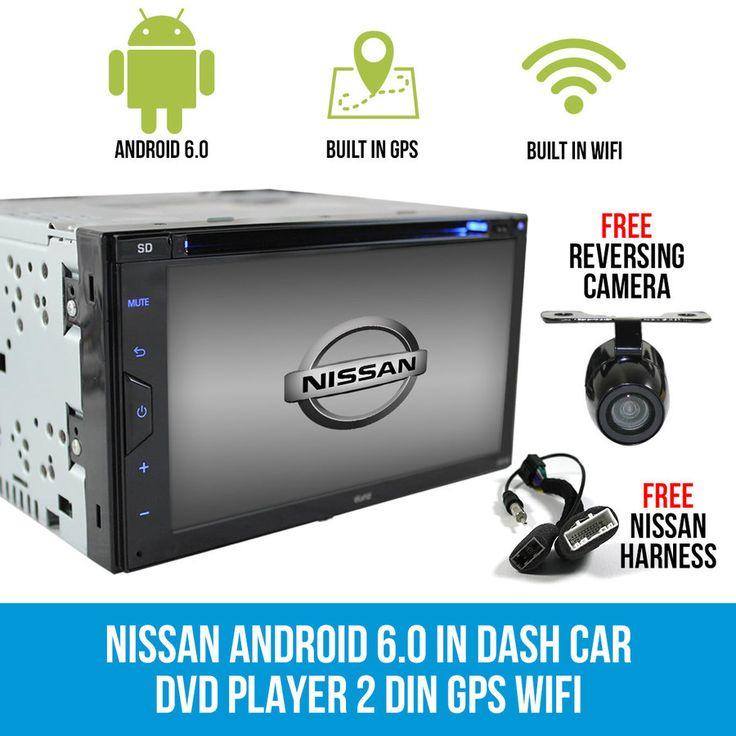 Nissan Android 6.0 In Dash Car DVD Player 2 DIN GPS WIFI TIIDA X-TRAIL Patrol