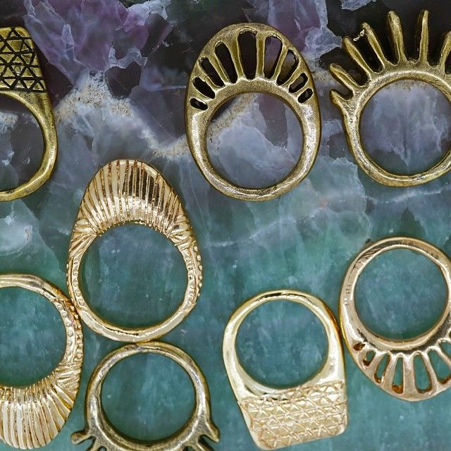 Giza, Rising Sun, Mollusk, Eurybia Rings by Dream Collective