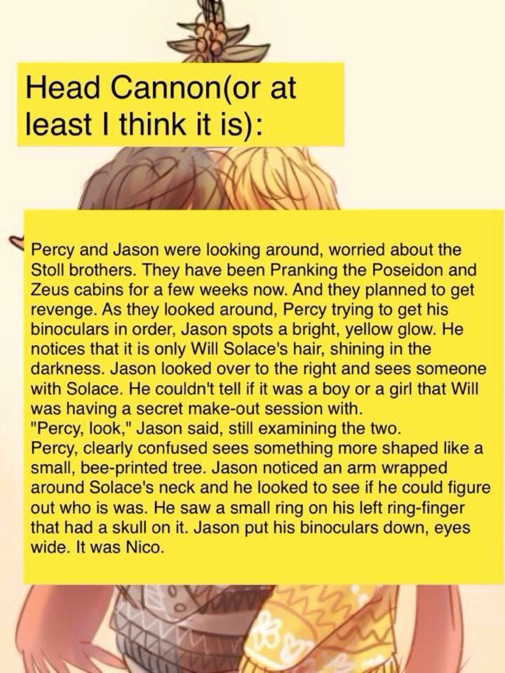 "And Percy would whisper quietly ""I guess Will is his type."""