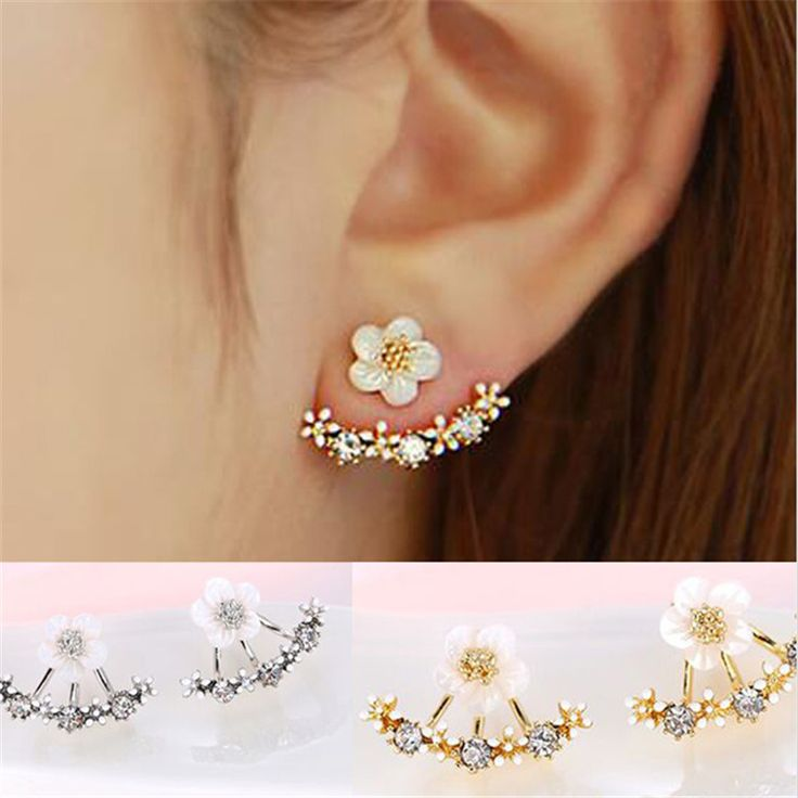 Crystal Stud Earrings Boucle d'oreille Femme 2016 Fashion Flower Earrings for Women Gold Bijoux Jewelry Brincos Pendientes Mujer <3 Clicking on the image will lead you to find similar product