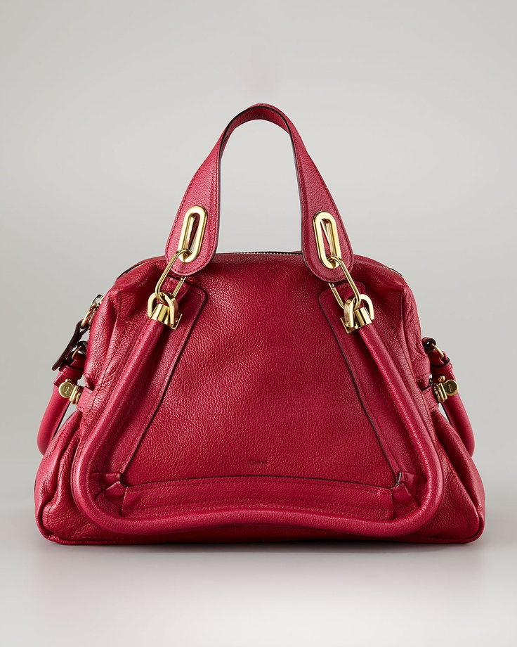 Chloé, Paraty Medium Satchel, Cyclamen