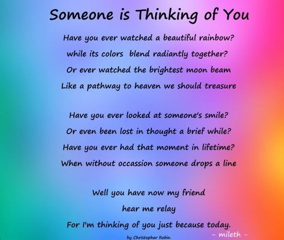 Thinking Of You Poems And Quotes For Friends: Someone Is Thinking Of You.... Friendship Quote Friend