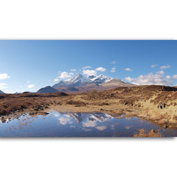 Cuillin Mountain Reflections Skye Scotland Panoramic Print Scottish Landscape Landscape Photography