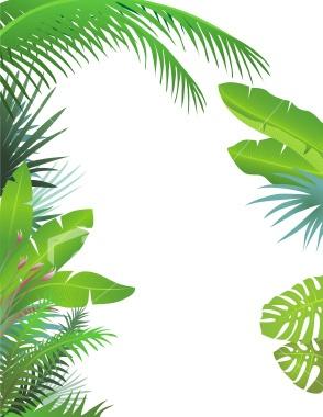 palm & banana leaves   art   Pinterest