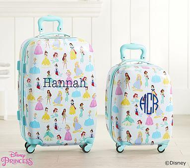 Mackenzie Aqua Disney Princess Hard Sided Luggage #pbkids