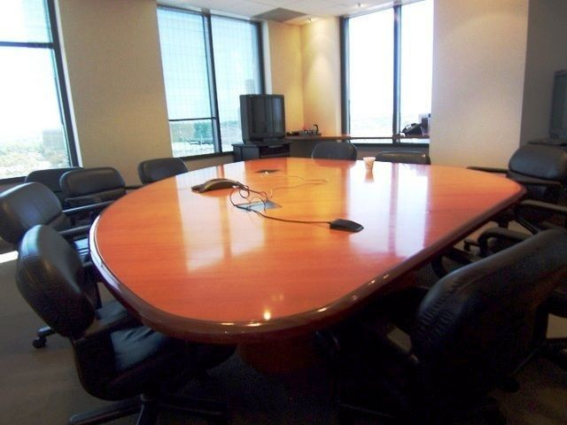 Used Baseball Diamond Shaped Conference Table  This cherry veneer  conference table features a unique baseball. 20 best Used Tables images on Pinterest