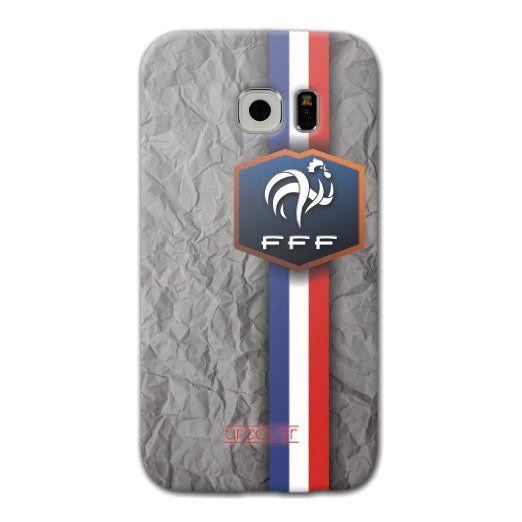 [EM SPEZIAL] Samsung Galaxy S7 Fussball Handyhülle mit Staubschutzkappen von original Urcover® in der UEFA EURO 2016 Edition Galaxy S7 Schutzhülle Case Cover Etui Europameisterschaft 2016 Fahne Team Frankreich