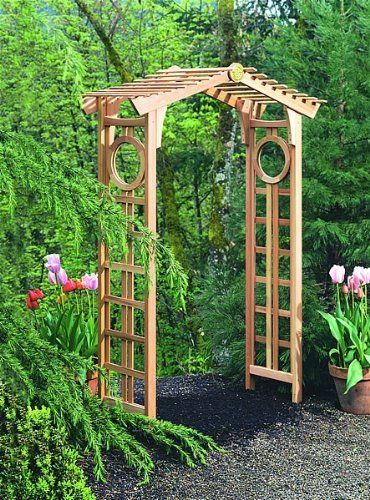 "Arboria Longevity Arbor 820.3075 by Arboria. $433.99. Made of 100% Western Red Cedar. Assembly required.. No-rust Aluminum staples and glue means lattice side panels stay beautiful and strong to support climbing plants.. Overall Dimensions: 90 1/2"" H x 48"" W x 26"" D Inside Dimensions: 85 1/2"" H x 48"" W x 17 3/8"" D (at bottom). Furniture joinery in arbor side panel pre-assembly creates rigidity, strength and long service.. ARB8203075 Features: -Longevity Arbor.-Si..."