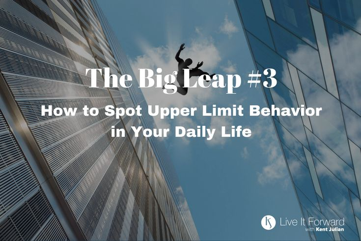"""LIF 098 - The Big Leap #3 - How to Spot Upper Limit Behavior in Your Daily Life The message of The Big Leap, by Gay Hendricks ties into the DREAM-to-DO message Kent shares on this podcast. That's why we have created this short series of podcast episodes to dive more deeply into the content of the book and to talk about how each of us can take """"The Big Leap' in our lives, relationships, and careers. We kicked off the Big Leap Series in Episode 096 by defining the Upper Limit Problem and ho..."""