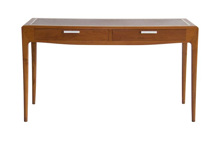 BARNEY DESK WITH SHAGREEN TOP Rosewood frame with shagreen top Size 550 x 600 x 900 mm