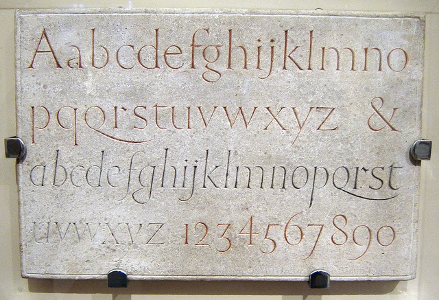 Eric Gill alphabet & numerals (1909), via Flickr.