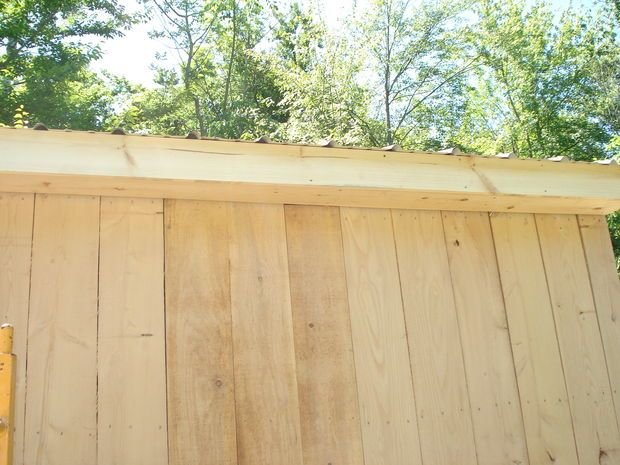 Rough sawn lumber for 8 inch board and batten siding