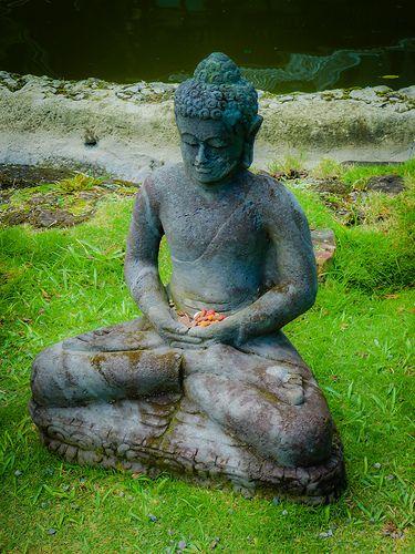 Buddha statue, graceful and calm.
