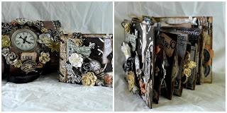 Altered box and mini album using Primas Engraver paperline.