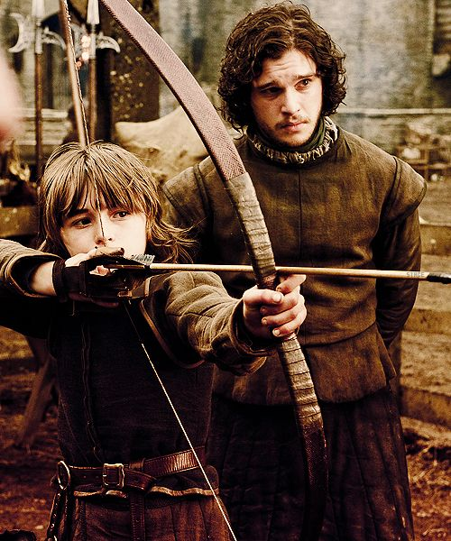 Bran Stark and Jon Snow during simpler times - Game of Thrones