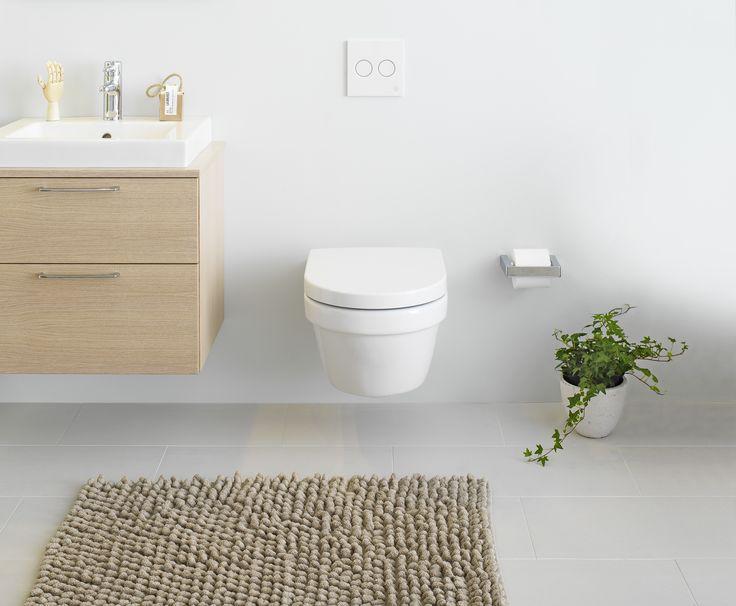 Vägghängd toalett 5G84 med Hygienic Flush.
