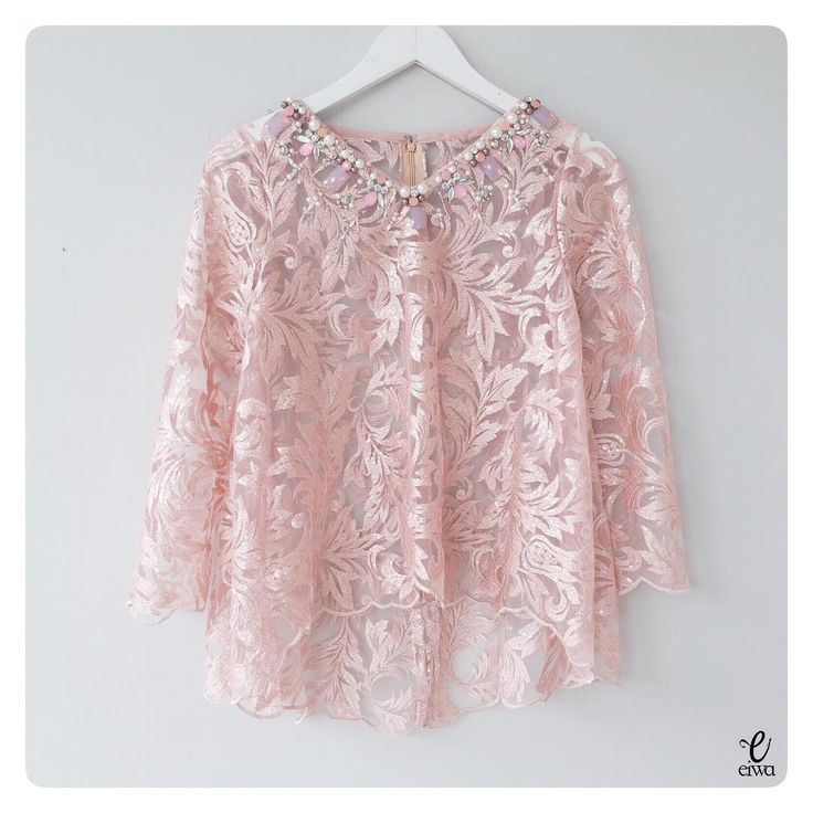 "879 Likes, 42 Comments - EIWA - kebaya brokat bajubodo (@eiwaonline) on Instagram: ""✂️MBM - PO AVAILABLE✂️ TOP0279v (dusty) SIZE XS - XXL Sleeve 50cm Length 55/65cm No lining (inner…"""