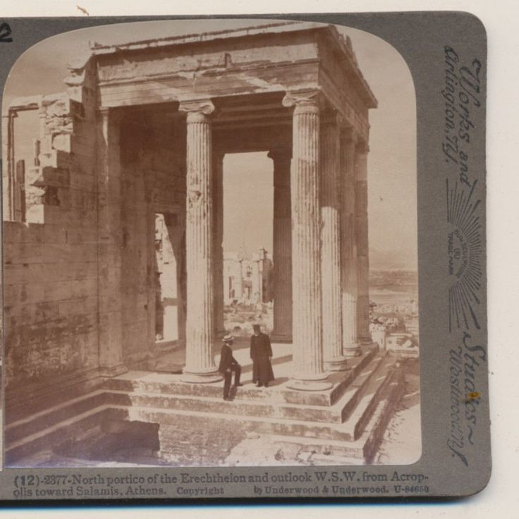 North Portico Erchtheion from Acropolis Athens Greece Underwood Stereoview 1907