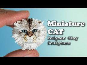 I'm sculpting a persian cat head using polymer clay. (fimo and cernit) The tools I'm using are embossing tools, ball-ended tools, toothpick, needle tool, spa...