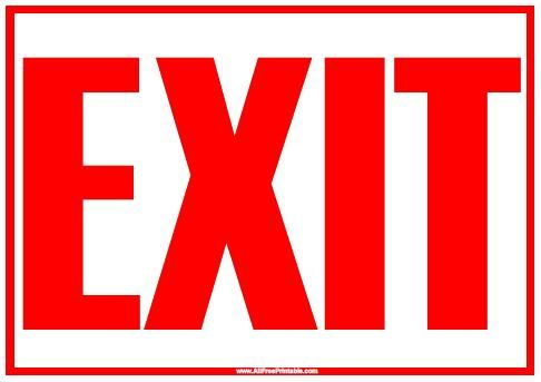 For Sale Sign >> print exit sign | ... menu print exit sign black print exit sign red for sale sign font ...