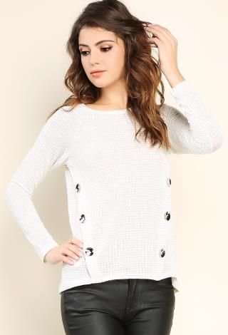 Button Detail Knit Sweater | Shop Sweaters
