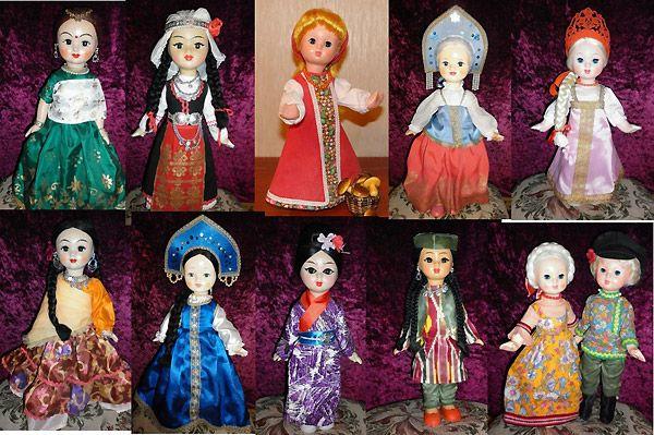 Винтажные советские куклы фото Ивановская фабрика индианки куклы в русских костюмах