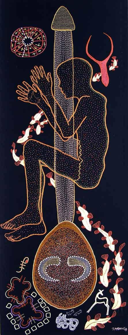 Title: Simon Seretse Medium: Embroidery and beadwork on fabric by Tamar Mason
