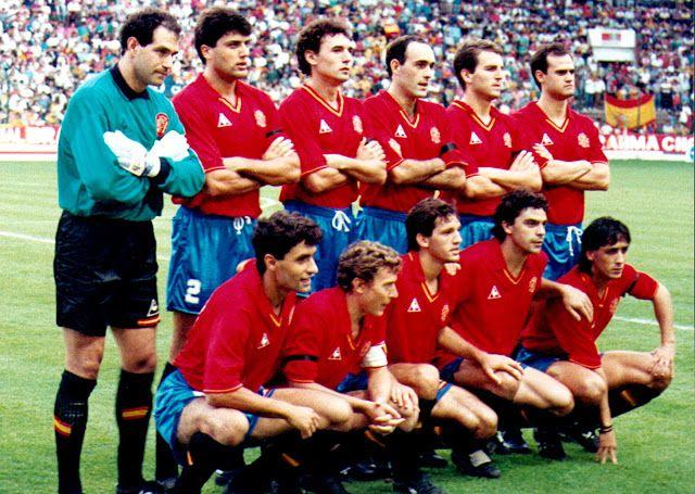 EQUIPOS DE FÚTBOL: SELECCIÓN DE ESPAÑA contra Brasil 12/09/1990 Partido amistoso