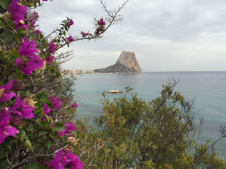 A View of The Ifach Taken From The Cliff Tops Along The Beach. #CliffWalksCalpe