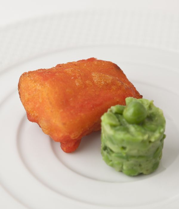 This cod fillet recipe by Vineet Bhatia of Rasoi fame is a fun Indian-style alternative to traditional seaside battered fish and mushy peas.