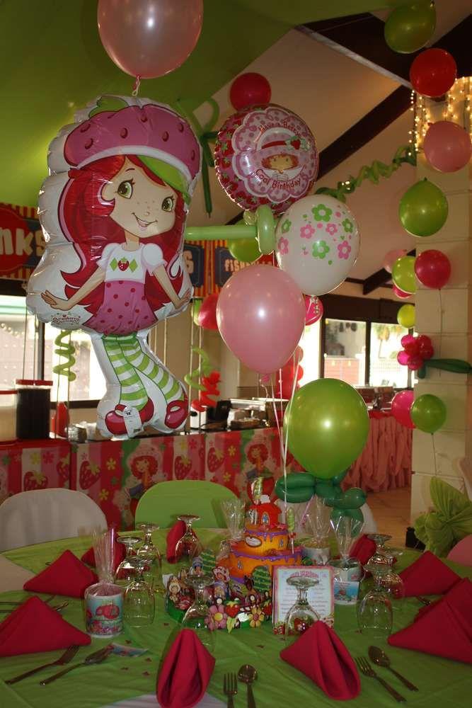 Strawberry Shortcake Baby Shower Supplies Part - 36: Strawberry Shortcake Birthday Party Ideas